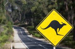 Känguruzeichen Stockbild