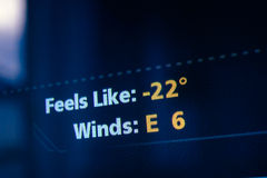 Känner sig som väder för att förutse Arkivbild