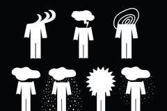 Känslig uppsättningsymbol Känslor är som väder Arkivbild
