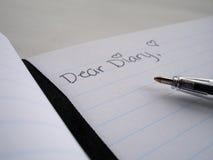 kär dagbok Arkivfoto