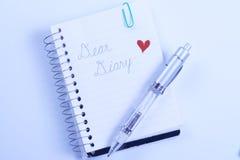 kär dagbokpenna Royaltyfria Bilder