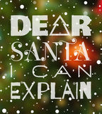 Kär jultomten kan jag förklara julaffischen Fotografering för Bildbyråer