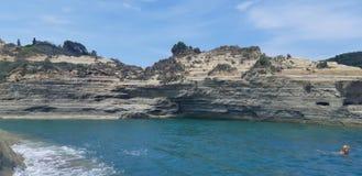 Kärleksaffär för kanal D på den Korfu ön, Grekland arkivfoto