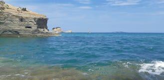 Kärleksaffär för kanal D på den Korfu ön, Grekland arkivbild