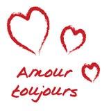 kärleksaffärtoujours Royaltyfri Bild