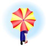 Kärlekshistoria. Koppla ihop med paraplyet Arkivbilder