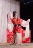 Kärlekshistoriaguld och jade för taiwanesisk opera ryoen Arkivbild