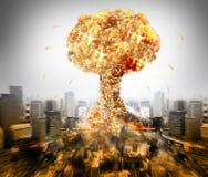 Kärn- atom- krig Arkivfoto