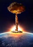Kärn- bombardera explosion Arkivfoto
