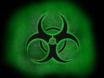 Kärn- bransch för Biohazard, logo för konstnärlig stil, toppen affisch för kvalitetsabstrakt begreppaffär arkivfoto