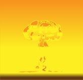 kärn- explosion Royaltyfri Bild