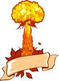 kärn- explosion Arkivfoton