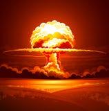 Kärn- explosion royaltyfri illustrationer