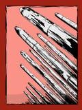Kärn- missiler som uppåt pekar Fotografering för Bildbyråer
