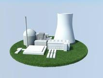 Kärn--Powerplant Royaltyfria Foton