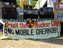 kärn- protest för anti baner Arkivbilder