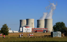 kärn- station för ström 12 Arkivfoto