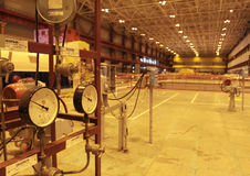 kärn- strömstation Arkivfoton