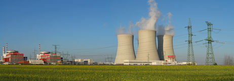 kärn- strömstation Arkivfoto