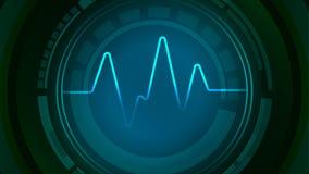 Kärna av pulssymbolen för solid våg Arkivfoton