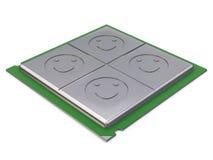 kärnaCPU-kvadrat Royaltyfri Fotografi
