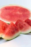 Kärnfri saftig vattenmelon Fotografering för Bildbyråer