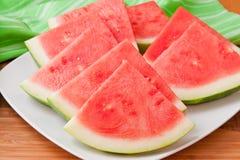 Kärnfri vattenmelon Royaltyfria Foton