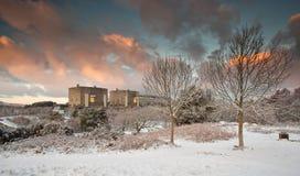 Kärnkraft i vinter arkivbilder