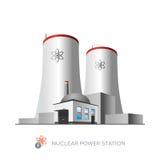 Kärnkraftverk royaltyfri illustrationer