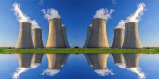 Kärnkraftverk Dukovany i Tjeckien Europa Royaltyfria Bilder