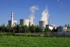 Kärnkraftverk Temelin i Tjeckien Europa Royaltyfri Foto