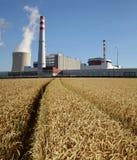 Kärnkraftverk Temelin i Tjeckien Europa Royaltyfri Bild