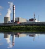 Kärnkraftverk Temelin i Tjeckien Europa Royaltyfria Foton