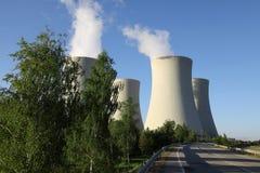 Kärnkraftverk Temelin i Tjeckien Europa Fotografering för Bildbyråer