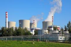 Kärnkraftverk Temelin i Tjeckien Europa Arkivfoton