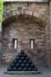 Kärnor från de defensiva vapnen i Vaxholms kastell stockholm sweden Fotografering för Bildbyråer