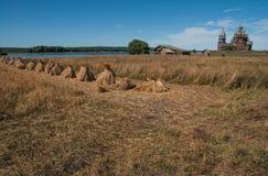 Kärvar i Kizhi, Karelia Arkivfoto