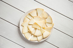 Käse auf Weiß Stockbild