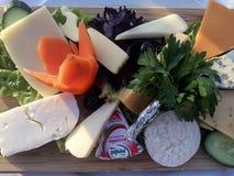 Käse-Brett an einem Restaurant in Istanbul Lizenzfreies Stockfoto