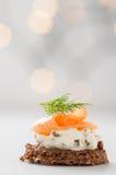 Käse der Lachse mit Sahne Lizenzfreies Stockfoto
