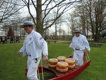Käse, der Paraden wiegt Stockbild