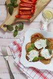Käse der Pfannkuchen mit Sahne Stockbilder