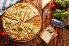 Käse der Pizza vier Lizenzfreie Stockfotos