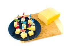 Käse für eine Kindparty Lizenzfreies Stockbild