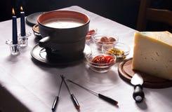 Käse-Franzosefondue stockbild