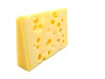 Käse getrennt auf Weiß Lizenzfreie Stockbilder