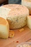 Käse am Markt Stockfotografie