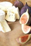 Käse mit Feigen und Honig Lizenzfreie Stockbilder
