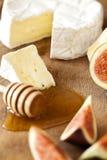 Käse mit Feigen und Honig Lizenzfreies Stockbild