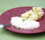 Käse mit Kartoffeln Lizenzfreie Stockfotos